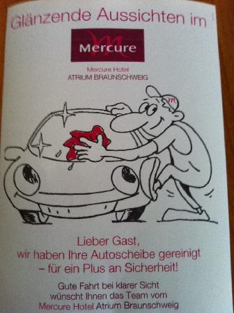 Mercure Hotel Atrium Braunschweig: Gute Fahrt