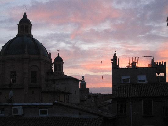 Ca' Fosca due Torri: at sunset on balcony