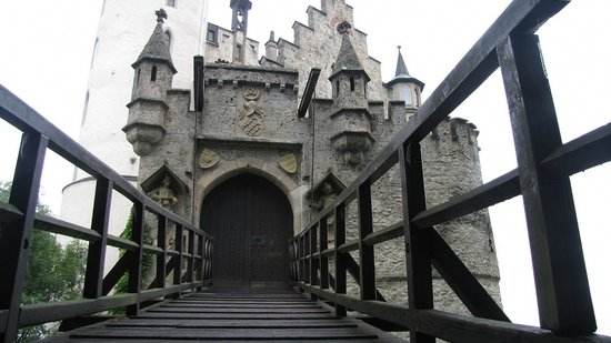 Lichtenstein, Germany: Drawbridge & turrets