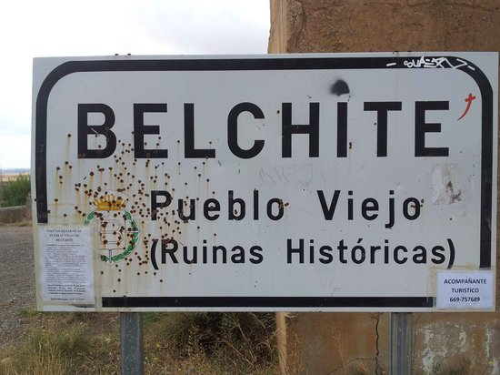 Belchite: cartello