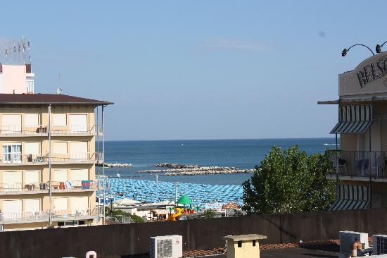 Hotel Gambrinus Mare: la vue depuis notre chambre