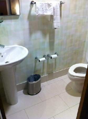 SpringHill Suites Chicago Waukegan/Gurnee : private toilet has it's own sink like having two bathrooms!