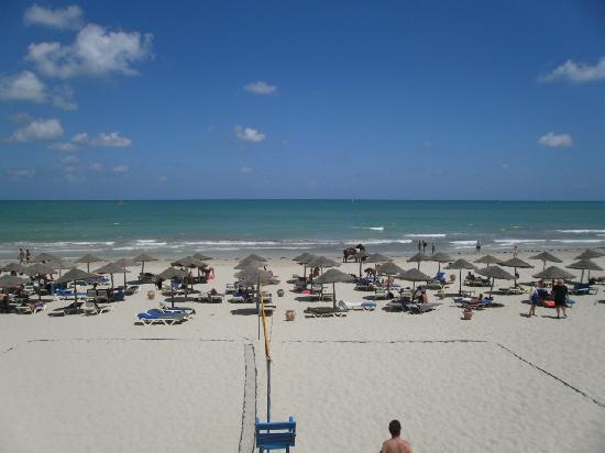 سنتيدو جربة بيتش: Vue sur la plage depuis le Beach Bar