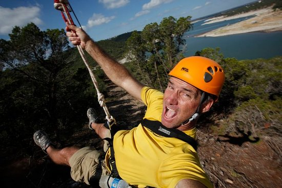 Volente, Τέξας: Zipping in Austin, Tx at Lake Travis Zipline Adventures