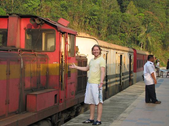 The Jesselton Hotel: our train back from the river to KK