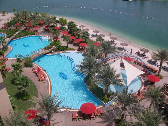 The Pool And Beach From Our Balcony Picture Of Khalidiya Palace Rayhaan By Rotana Abu Dhabi
