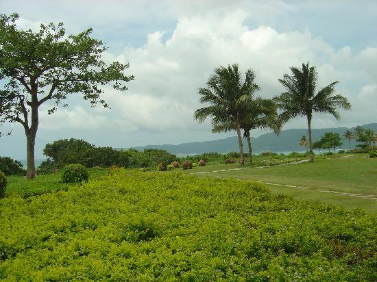 Yalong Bay : view garden along the beach