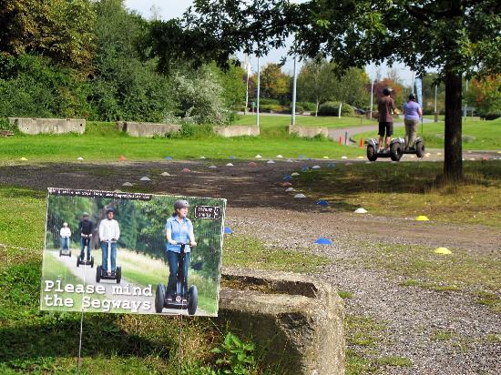 Exeter Segway Smiles Devon: pedestrians beware