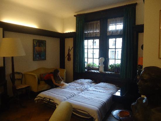 Chambres d'hotes Du Bois: letti singoli aggiunti in zona giorno
