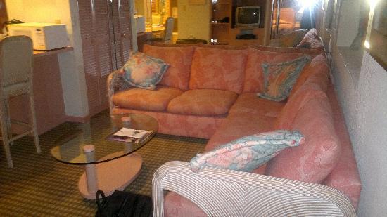 Crystal Beach Suites Hotel: Gemütlicher Fernsehecke