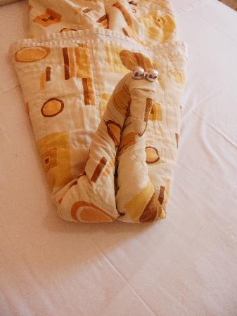 Yak Hotel Natal: esses sao os detalhes na minha cama lindo