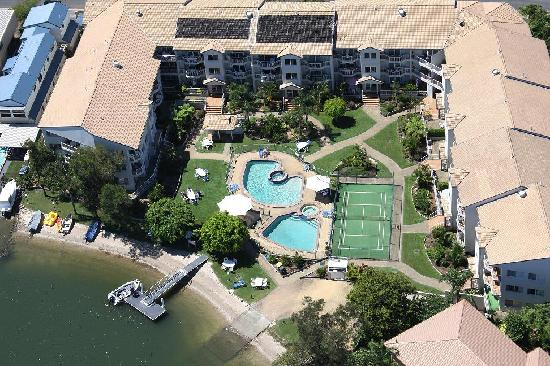 Pelican Cove Apartments: From the sky!