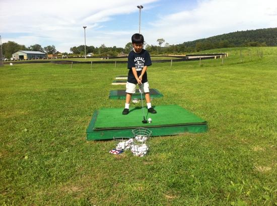 Cooperstown Fun Park: hitting balls at the driving range