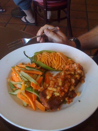 Blue Adobe Sante Fe Grille : salmon dish- was on lunch special that day