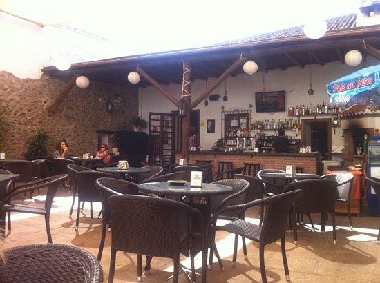 El Molino: sheltered terrace dining