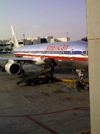 """Sandy Lane Hotel : The """"AA"""" aircraft we arrived on from Miami"""