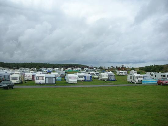 Elie, UK: View over the caravan site