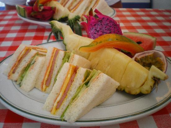 Pension Beachside Bubu: Le petit déjeuner un pur moment de bonheur !