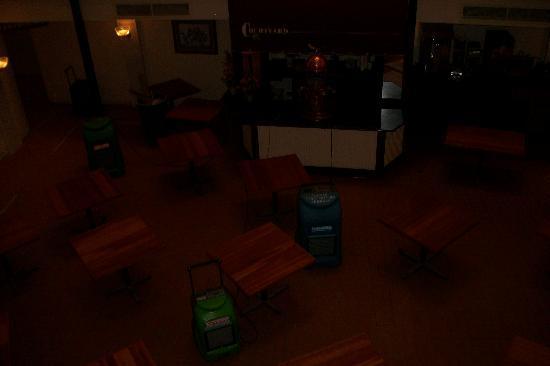 DeSoto House Hotel: courtyard restaurant