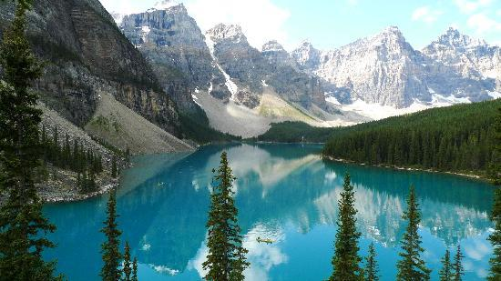 Moraine Lake Lodge: View from the rockpile