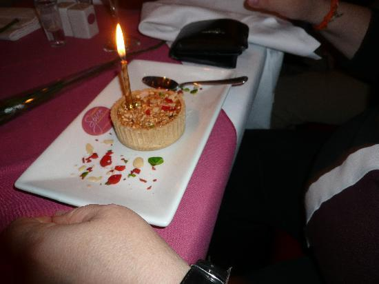 Cinnamon Spice: Birthday cake from management