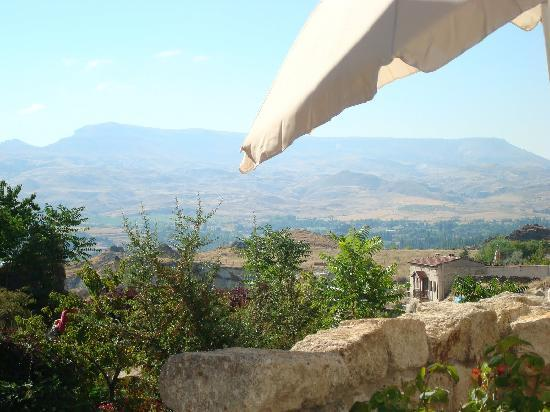 Esbelli Evi Cave Hotel: The view from the breakfast patio
