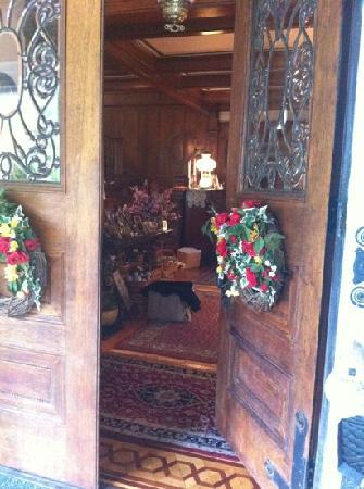 The Greenhouse Bed and Breakfast: Front door and foyer