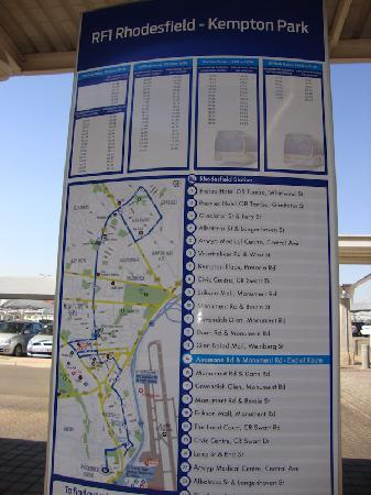 Gautrain: map of bus route