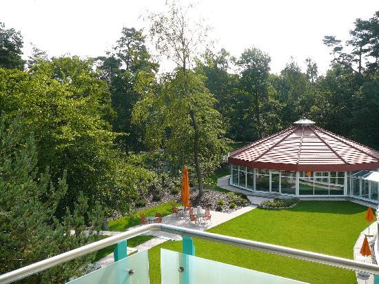 Seehotel Binz Therme Rugen: Blick vom Balkon auf die Sole Therme