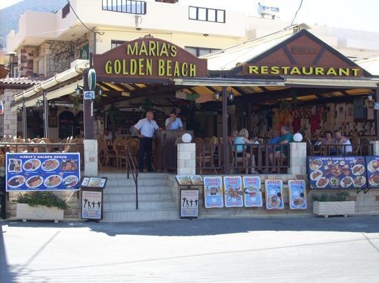 Maria's Golden Beach Tavern Restaurant : quiet chat