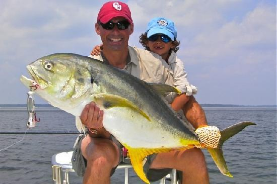 Personal best redfish light tackle fun picture of off for Off the hook fishing charters