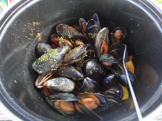 The Minnis Bay Bar & Brasserie: Fresh Mediterranean Mussels