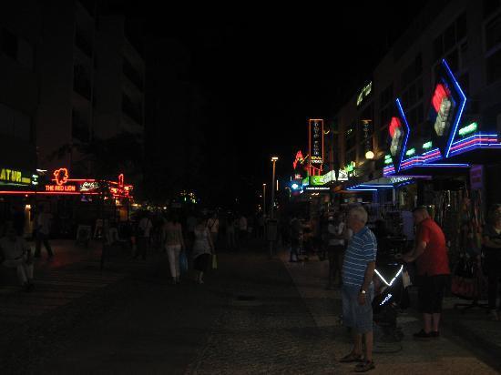 Flor da Rocha: The strip, a ten minute walk from the apartments.