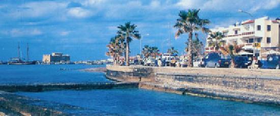 Paphinia Sea View Apartments: Paphos Castle, Harbour and Paphinia SeaView Apartments