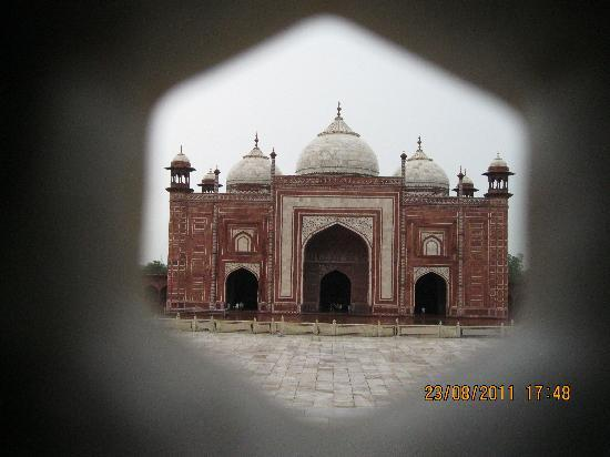 Taj Mahal: View from inside the Taj