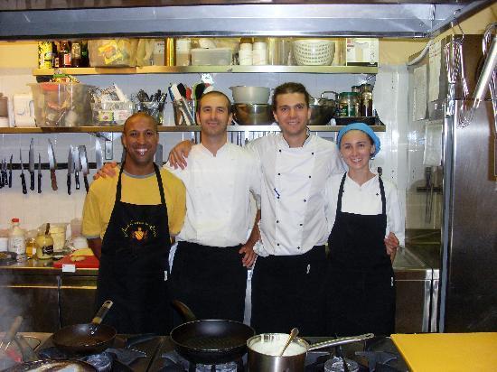 Hotel Castello di Sinio: The kitchen staff
