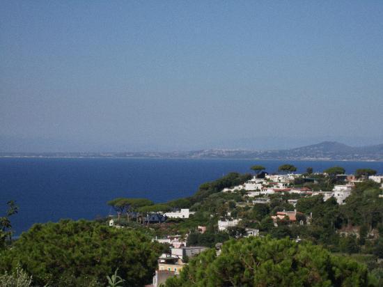 Poggio Aragosta Hotel & Spa: Vista del golfo di Napoli con Vesuvio