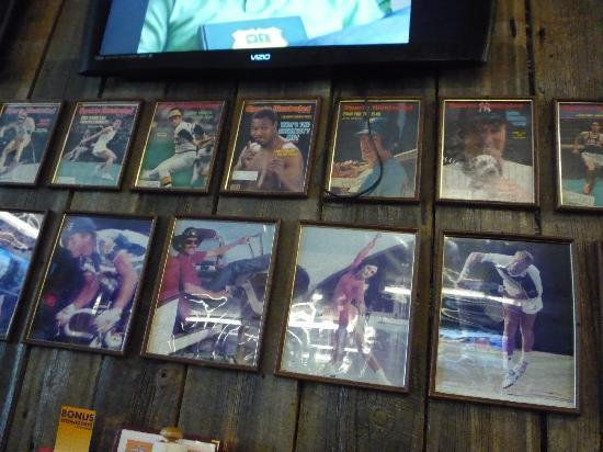 Buster's Sports Bar: retro sports posters