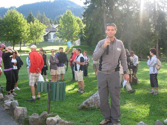 Villars-sur-Ollon, Svizzera: Le Chef donne le départ