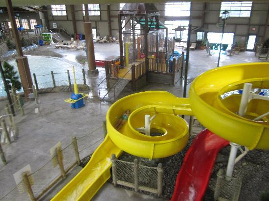 "Hope Lake Lodge & Conference Center: waterslides for those over 42"" tall"