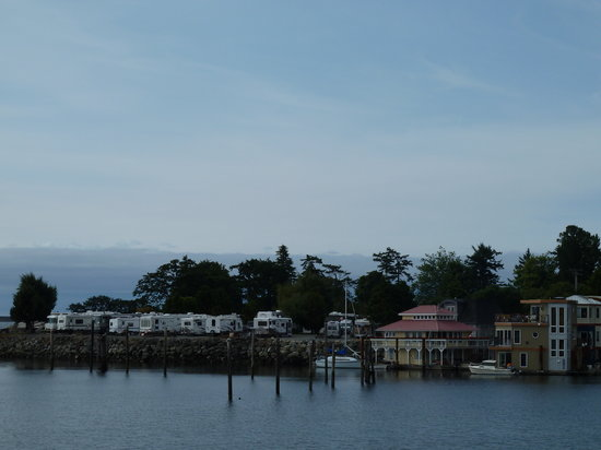 Westbay Marine Village & RV Park : Looking towards the RV park from Victoria