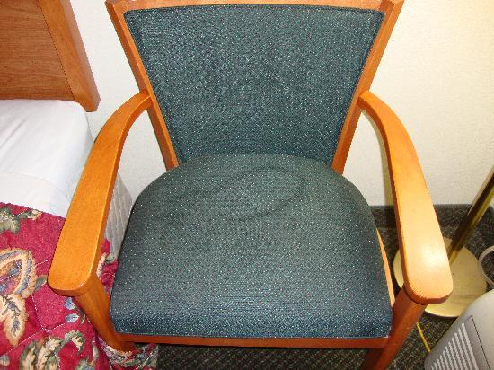 Crawfordsville, IN: Chair with stain
