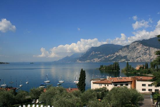 Hotel Baia Verde Malcesine: Utsikt fra 3. etasje over sjøen