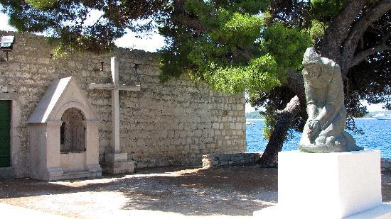 Hvar, Croatia: Outside the Monastery front doors.