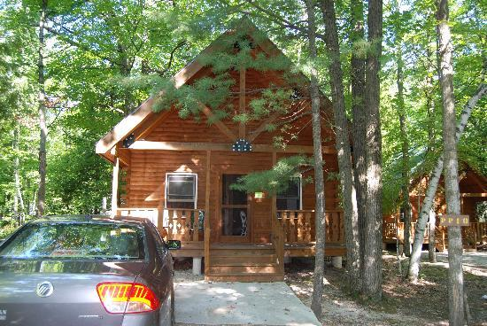 Tranquil Timbers Camping Resort: Front view of cabin