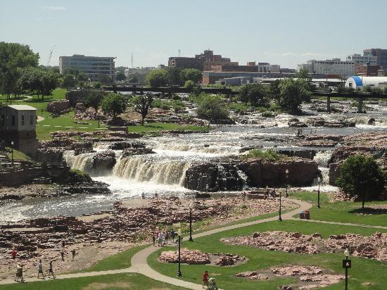 Sioux Falls, SD: View of the Falls from the tower