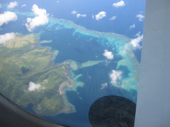 Matei, Fiji: Fiji Isl. from the plane