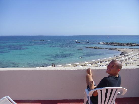 Hotel Apartamentos Portu Saler: terrazzo