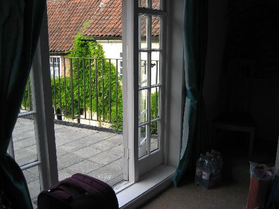 The Bramley Apple Inn: French windows from the room to the terrace