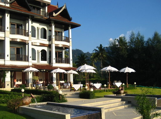 Khao Lak Riverside Resort & Spa : Restaurantterrasse